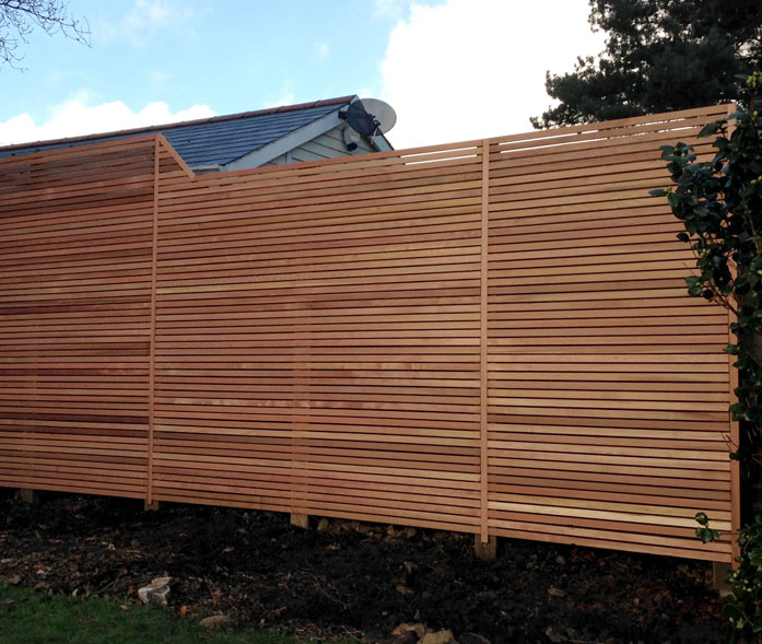 Hand made fencing in Ringwood.